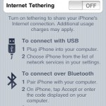 iPhone - Internet Tethering